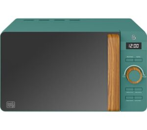 SWAN Nordic SM22036GREN Solo Microwave - Green, Green