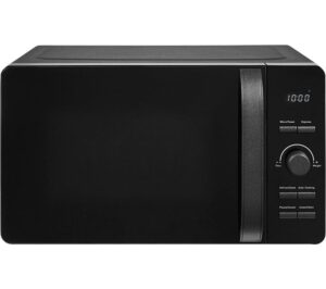 TOWER Glitz T24021BS Solo Microwave - Black, Black