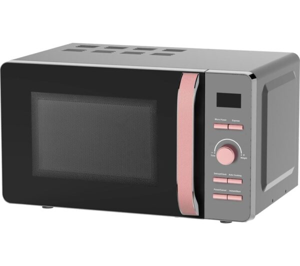 TOWER Glitz T24021PS Solo Microwave - Black & Pink, Black