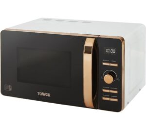 TOWER T24021W Solo Microwave - White & Rose Gold, White