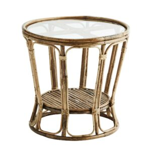 Two Tier Bamboo Side Table, Natural