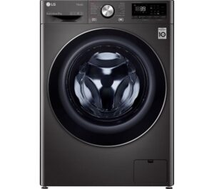 LG TurboWash 360 with AI DD V10 F6V1009BTSE WiFi-enabled 9 kg 1600 Spin Washing Machine - Black, Black