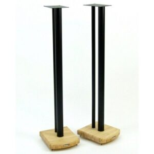 100cm Fixed Height Speaker Stand Symple Stuff Finish: Black/Natural Bamboo
