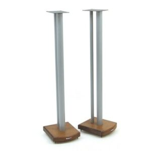 100cm Fixed Height Speaker Stand Symple Stuff Finish: Silver/Dark Bamboo