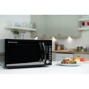 17 L 700W Countertop Microwave Russell Hobbs Colour: Black