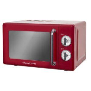 17 L 700W Countertop Microwave Russell Hobbs Colour: Red
