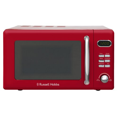 17 L 800W Countertop Microwave Russell Hobbs Colour: Ribbon Red