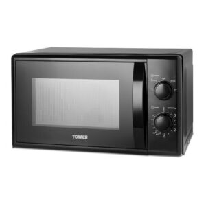 20 L 700W Countertop Microwave Tower Colour/Finish: Black