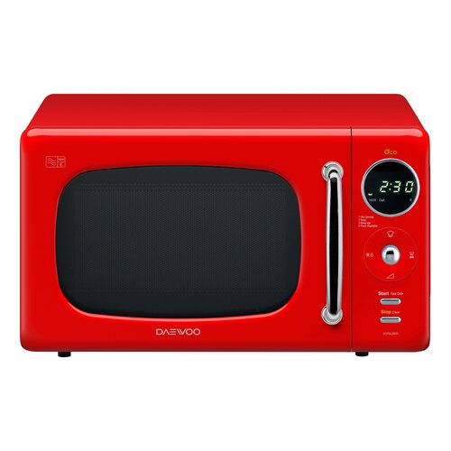 20 L 800W Countertop Microwave Daewoo Colour: Red