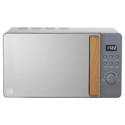 20 L 800W Countertop Microwave Daewoo Colour/Finish: Grey