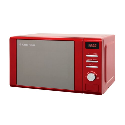 20 L 800W Countertop Microwave Russell Hobbs Colour: Red