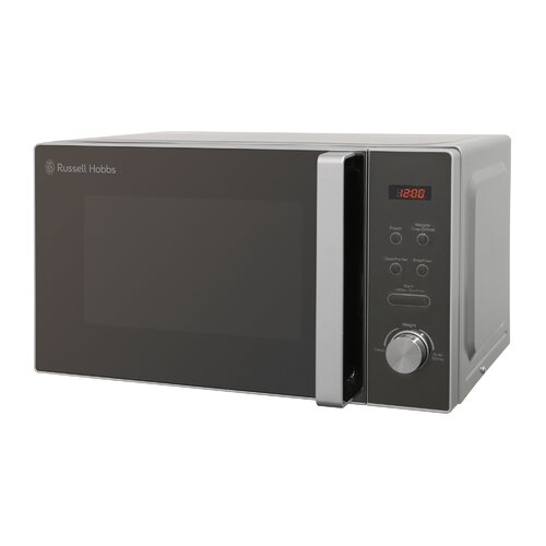 20 L 800W Countertop Microwave Russell Hobbs Colour: Silver