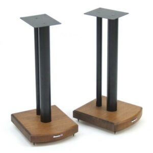 50cm Fixed Height Speaker Stand Symple Stuff Finish: Black/Dark Bamboo