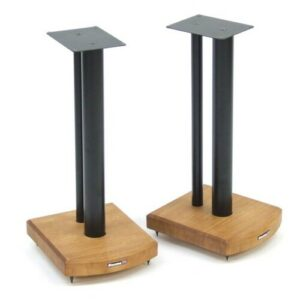 50cm Fixed Height Speaker Stand Symple Stuff Finish: Black/Medium Bamboo
