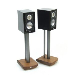 50cm Fixed Height Speaker Stand Symple Stuff Finish: Silver/Dark Bamboo