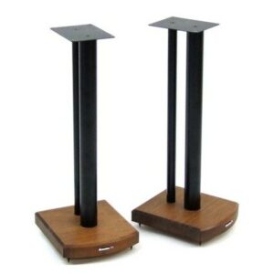 60cm Fixed Height Speaker Stand Symple Stuff Finish: Black/Dark Bamboo