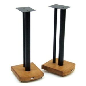 60cm Fixed Height Speaker Stand Symple Stuff Finish: Black/Medium Bamboo