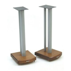60cm Fixed Height Speaker Stand Symple Stuff Finish: Silver/Dark Bamboo