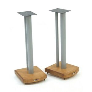 60cm Fixed Height Speaker Stand Symple Stuff Finish: Silver/Medium Bamboo