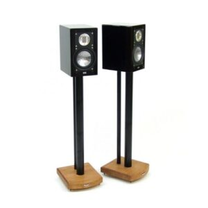 70cm Fixed Height Speaker Stand Symple Stuff Finish: Black/Medium Bamboo