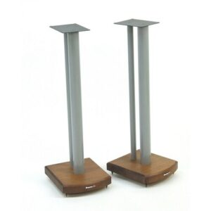 70cm Fixed Height Speaker Stand Symple Stuff Finish: Silver/Dark Bamboo