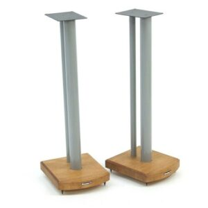 70cm Fixed Height Speaker Stand Symple Stuff Finish: Silver/Medium Bamboo