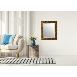 Alabama Eva Wall Mirror Borough Wharf Size: 68cm H x 108cm W, Finish: Brown/Gold, Mirror: Without facets