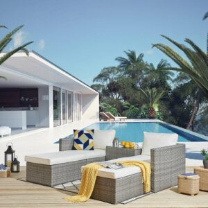 Alouetta Garden Corner Sofa with Cushions Sol 72 Outdoor