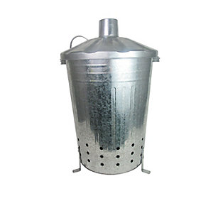 Apollo Galvanised Steel Garden Incinerator - 80L