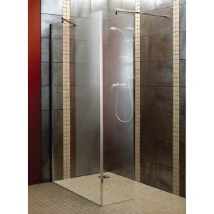 Aquadry L-shaped Bath screen (W)1200mm