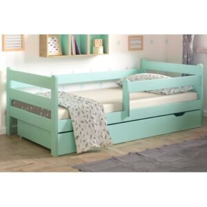 Cabin Bed with Drawer Nordville Lying surface: European Toddler (80 x 160 cm), Bed frame colour: Turquoise