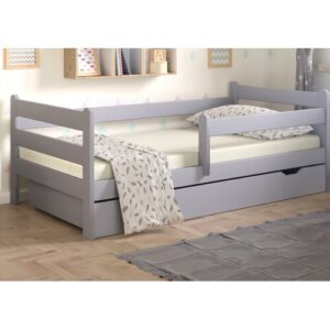 Cabin Bed with Drawer Nordville Lying surface: European Toddler (80 x 180 cm), Bed frame colour: Grey/Brown/Blue