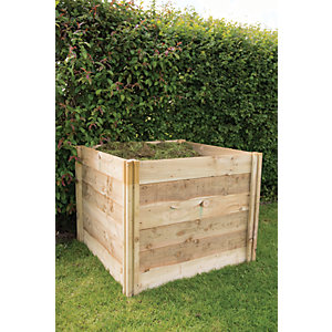 Forest Garden 3 x 3 ft Slot Down Wooden Compost Bin