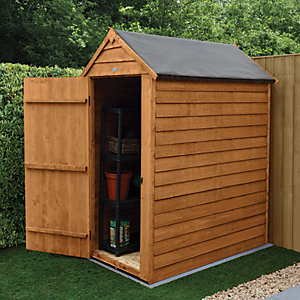 Forest Garden 3 x 5 ft Small Apex Overlap Dip Treated Windowless Shed with Assembly