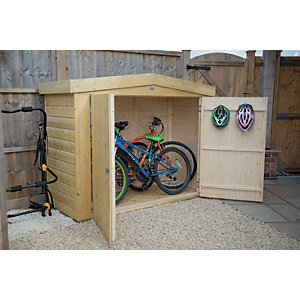 Forest Garden 6 ft x 3 ft Shiplap Apex Large Outdoor Store