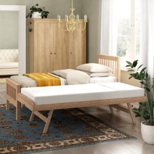Guest Bed with Trundle Brayden Studio Finish: Oak
