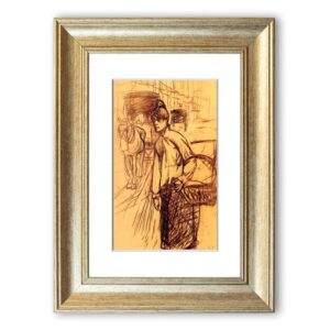 'Study For The Washing Machine ' Framed Photographic Print East Urban Home Size: 50 cm H x 70 cm W, Frame Options: Silver
