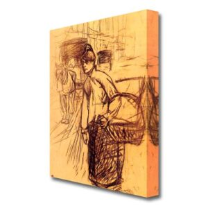 'Study For the Washing Machine' by Henri de Toulouse-Lautrec Painting Print on Wrapped Canvas East Urban Home Size: 121.9 cm H x 81.3 cm W