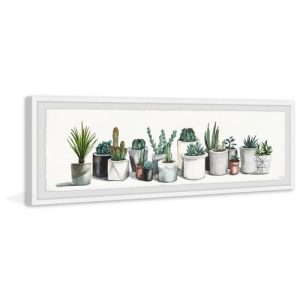 'Sturdy Indoor Plants' - Picture Frame Painting Print on Paper Bay Isle Home Size: 25cm H x 76cm W x 3.81cm D