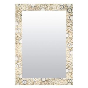 Wall Mirror Bloomsbury Market Size: 49cm H x 99cm W, Finish: Silver/White, Mirror: Without facets