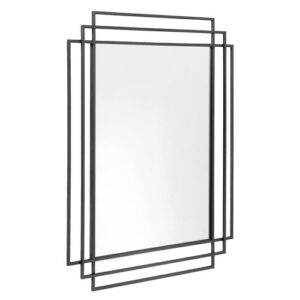 Wall Mirror Nordal Finish: Black