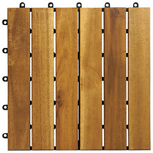 Wickes Acacia Garden Deck Tile - 300mm