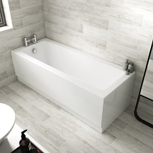 Wickes Camisa Sloped Back Straight Bath - 1700 x 700mm