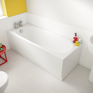 Wickes Forenza Straight Reinforced Bath - 1700 x 700mm