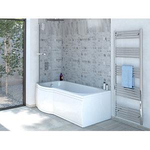 Wickes Valsina P Shaped Reversible Shower Bath Front Panel - 1675mm