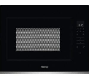 ZANUSSI ZMBN4SX Built-in Solo Microwave - Black & Stainless Steel, Stainless Steel