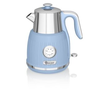 1.5L Stainless Steel Electric Kettle Swan Colour: Blue