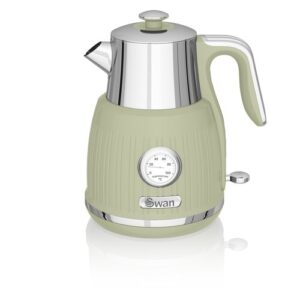 1.5L Stainless Steel Electric Kettle Swan Colour: Green