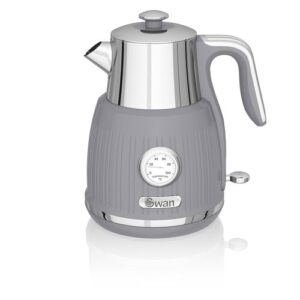 1.5L Stainless Steel Electric Kettle Swan Colour: Grey