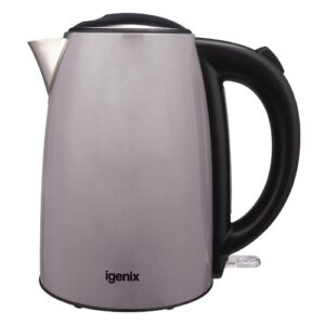 1.7L Stainless Steel Electric Kettle Igenix Colour: Grey
